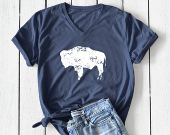 Bison Girls Youth Graphic T Shirt Design By Humans
