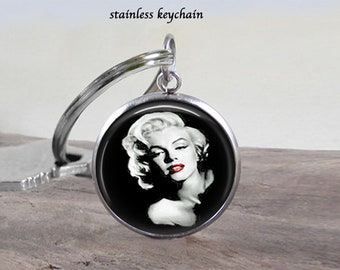 Marilyn Monroe Necklace Jewelry - Stainless 25mm - Choose Necklace or Keychain - Marilyn Jewelry - Will Not Tarnish - Great Gift Idea