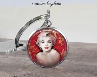 Marilyn Monroe 3 Necklace Jewelry - Stainless 25mm - Choose Necklace or Keychain - Marilyn Jewelry - Will Not Tarnish - Gift Idea - Charm