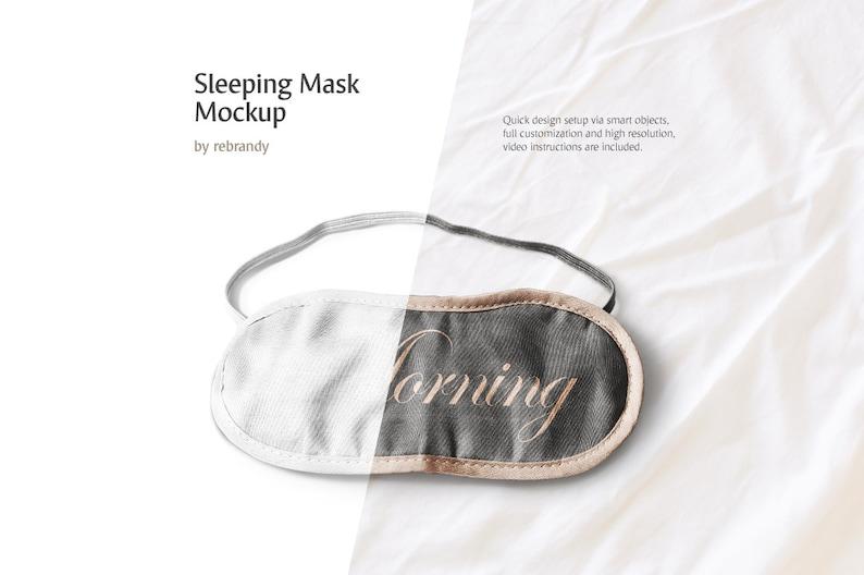 Sleeping Mask Mockup (Eye Mask Mockup, Sleep Eye Mask, Blindfold Mock up)