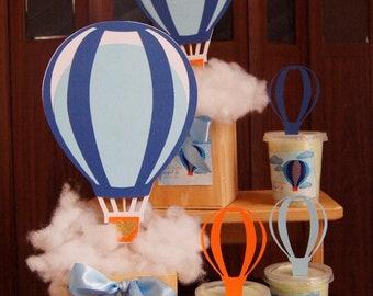 7e96ce188b10 Hot air balloon centerpiece | Etsy