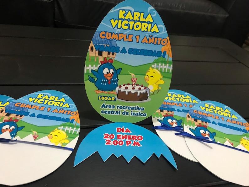 10 La Gallina Pintadita Birthday Invitations Galinha Pintadinha Galinha Pintadinha Lottie Dottie Chicken Barn Invitation