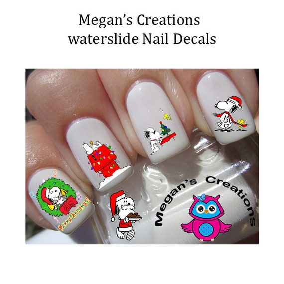 image 0 - Christmas Snoopy Nail Art Decals Etsy