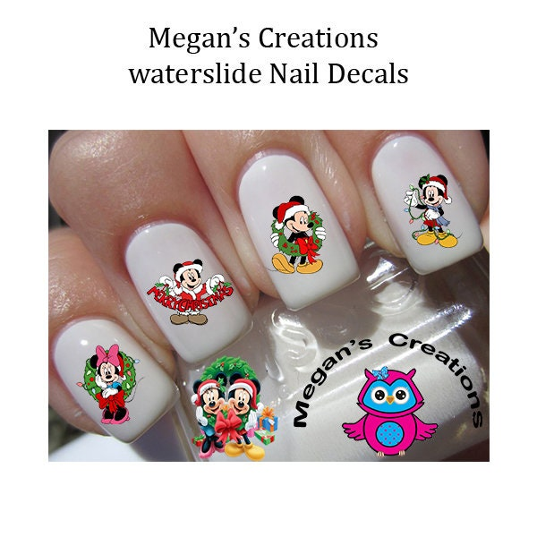 Minnie Mouse Nails: Christmas Mickey & Minnie Mouse Nails Decals Nail Stickers