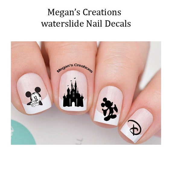Disney Mickey Mouse Castle Nail Art Decals Etsy