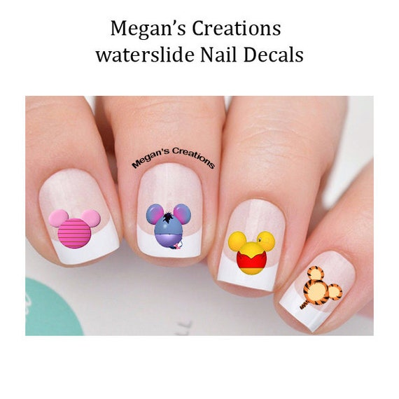 Winnie The Pooh Mickey Head Nail Art Decals Etsy