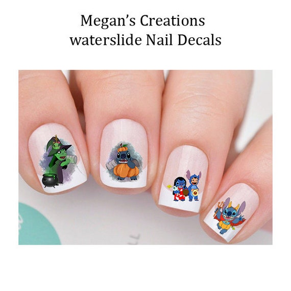 Lilo And Stitch Halloween Design 4 Nail Art Decals Etsy