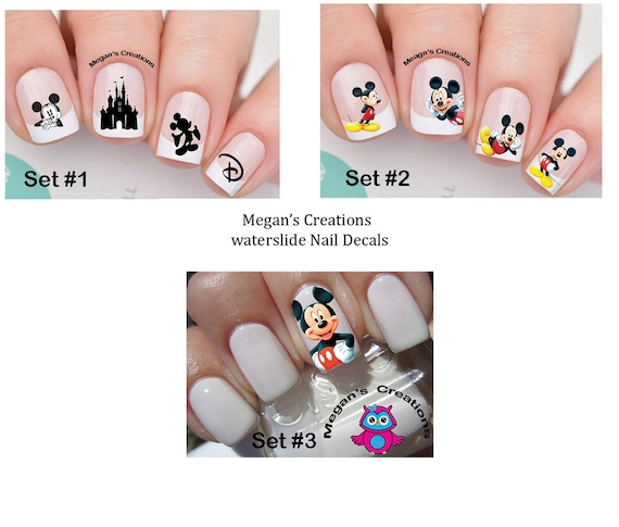 Mickey Mouse Nail Art Decals Etsy