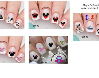 Mickey and Minnie Mouse Nail Art Decals