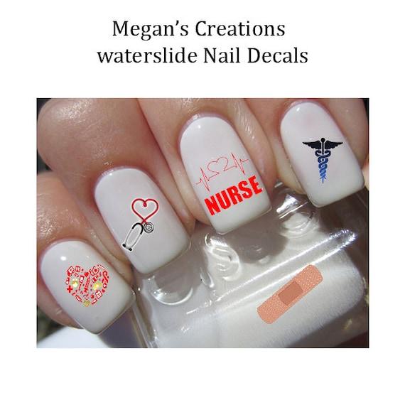 Nurse Nail Art Decals Etsy