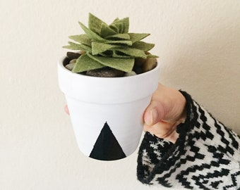 Potted Felt Succulent - Build Your Own