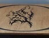 Tribal Wolf Concealment Box