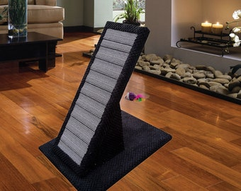 Black Cat Scratching Post - The Board - Durable Scratch Board Made From Scratching Straps