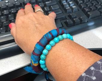 Sari Silk  Bracelet--Boho-Gypsy Style-Bracelet-