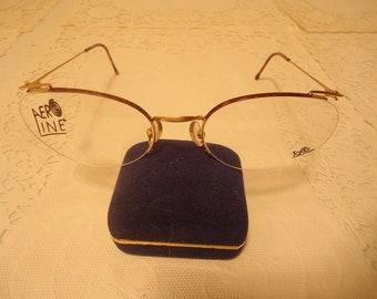 1d1352f06f NOS Vintage Logo Paris France Eyeglass Frames Gold Tortoise 53 20 130 Lot  146
