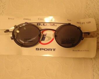 53838a77cb6b Vintage Sunglasses B.U.M. Sport Steampunk Chill Ink Clip Ons Eyewear  Eyeglasses Lot 26B Retro NOS New Old Stock