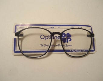 9aa7fc53ec97 Oversized Eyeglass Frames Eyeglasses Optiline Fashion France Large Vintage  Retro 4317 Blue 140 NOS Lot 171 NOS New Old Stock