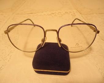 d9acae1d87 Rodenstock Designer Eyeglasses 893 Italy Blue Purple Eyeglass Frames 55 18  140 Lot 331 Vintage Retro NOS New Old Stock