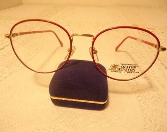 28727494df Oliver Winston Designer Eyeglasses Eyeglass Frames Suburban Red Large 52 20  140 Lot 530 Vintage Retro NOS New Old Stock