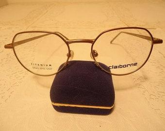 c679bc668cf3 Liz Claiborne Designer Eyeglass Frames Eyeglasses Titanium Large C 555  Bronze 50 19 150 Lot 393 Vintage Retro NOS New Old Stock