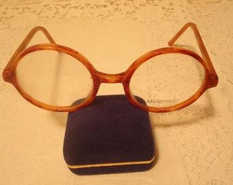 60d214de60 Mainstreet Eyeglasses Round Eyeglass Frames Blonde 46 18 140 Lot 327 Vintage  Retro NOS New Old Stock