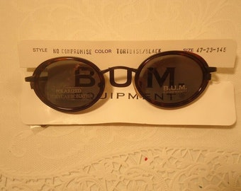98427af9 Vintage Sunglasses B.U.M. BUM No Compromise Steampunk Tortoise Black Retro  Eyewear Lot 26A