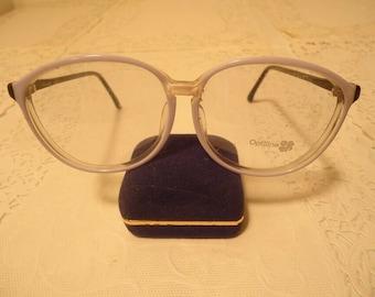 22722bb50312 Vintage Oversized Optiline Light Blue Eyeglass Frames France Retro NOS Lot  484