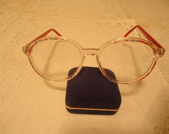 NOS Dollond and Aitchison PO 19 Angela Red Eyeglass Frames 130 Lot 309 8b1be76737