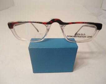 NOS Vintage B.G. Carisma Ben Glo Eyeglass Frames Red 46 24 145 Lot 202 51ea737bb8