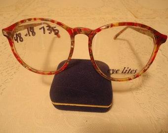 d8f9f81c1b Dollond and Aitchison Designer Eyeglasses Eyeglass Frames Red Splatter  Large 48 18 135 Lot 322 Vintage Retro NOS New Old Stock