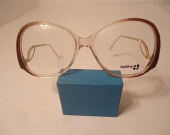 e0dd0bdd7d7 Oversized Vintage Optiline Fashion Eyeglass Frames NOS France 56 18 135 Lot  182