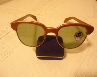 0875e2a7474 Vintage Hornrim Safety Glasses Sunglasses American Optical Retro NOS X 2481