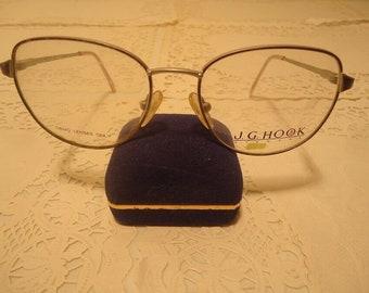 4d14e3475833 J.G. Hook Designer Eyeglasses Eyeglass Frames Belinda Blue Vintage NOS Lot  626