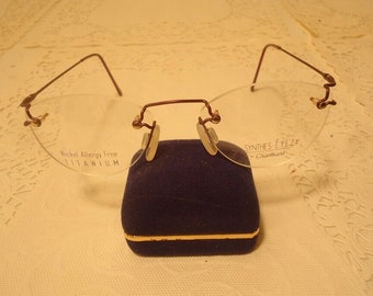 60892bfb36 Charmant Designer Eyeglasses Synthes Eyez Rimless Eyeglass Frames Purple  50 19 140 Lot 17 Vintage Retro NOS New Old Stock