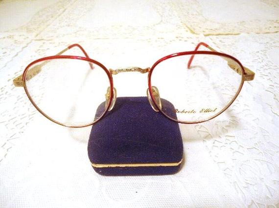 Roberto Elliot Designer Eyeglass Frames Red Vintage NOS 49 19   Etsy