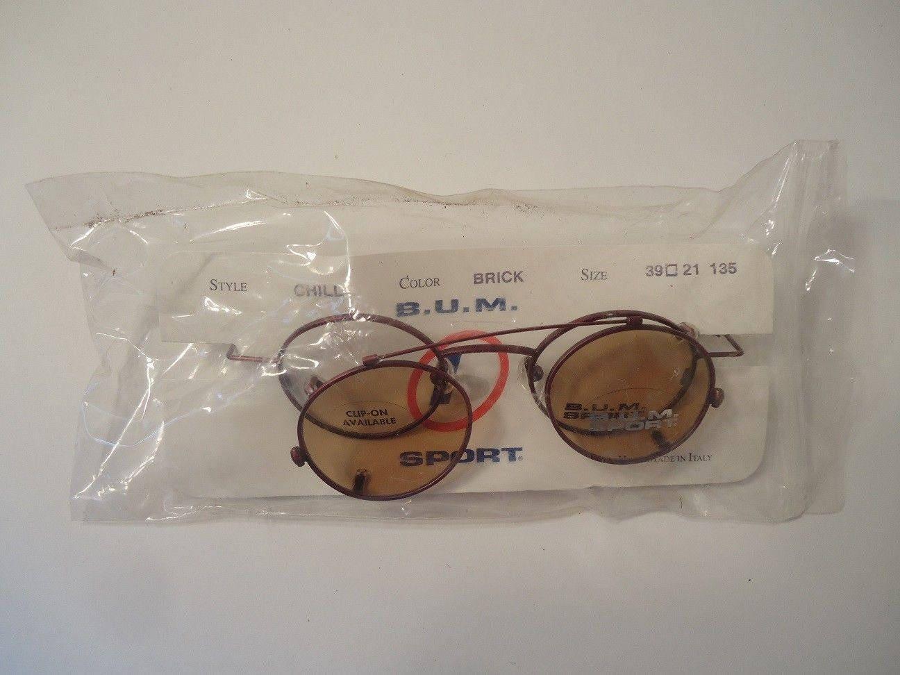 NOS B.U.M. Sport Steampunk Chill Brick Eye Glass Frames