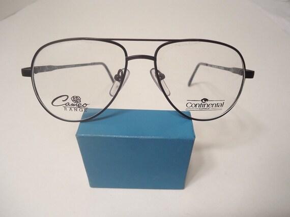 c68c12d440 NOS Vintage Continental Eyewear Eyeglass Frames Matt Black