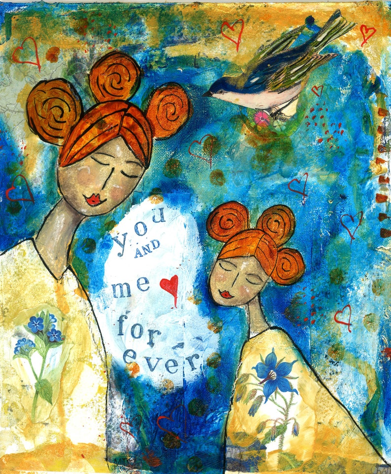 Inspirational Wall Art Gifts for Mothers Positive Affirmations - Art Print /'You and Me Forever/' by Miranda Day