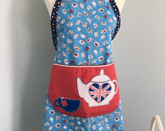 London Tea Time -Teacup & Teapot- Pocket Full Apron