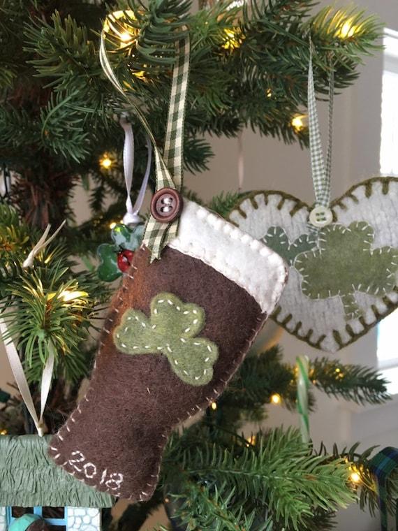 Guiness Irish Stout Wool Felt Dated Christmas Tree Ornament - Guiness Irish Stout Wool Felt Dated Christmas Tree Ornament Etsy