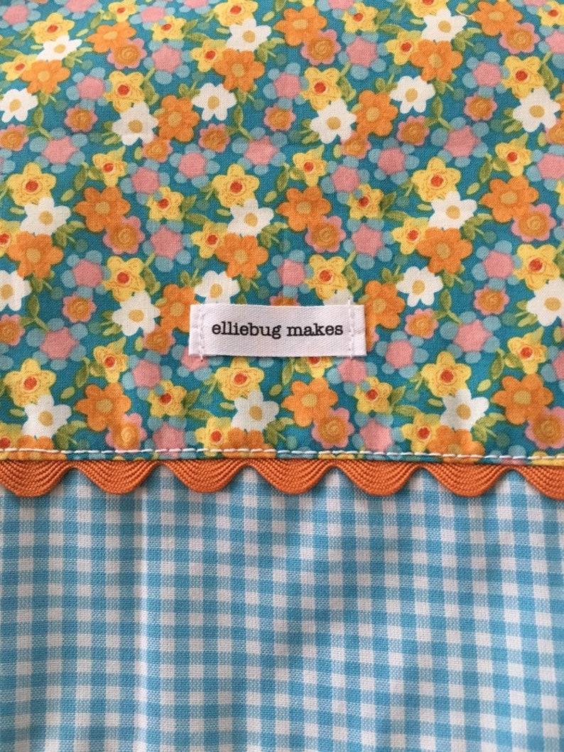 Romantic Cottage Shabby Chic Floral Gingham Aqua and Orange Tea Cozy Retro Vintage Housewife