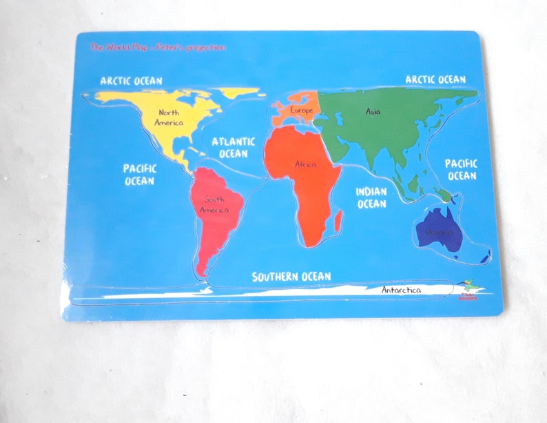 Puzzle Made Of Poplar Wood World Map Version Etsy