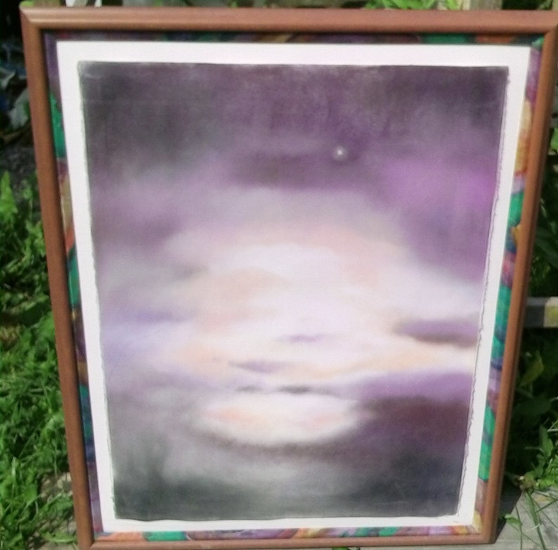 Sunset pastel on homemade paper Lois VanLiew Leonard