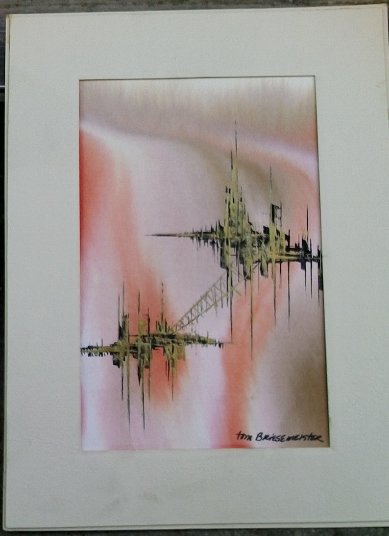watercolor on paper Tom Briesemeister Suspended City 3