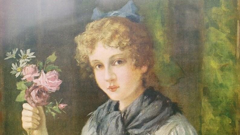 John H Henpill lithograph Who/'ll Buy My Flowers?