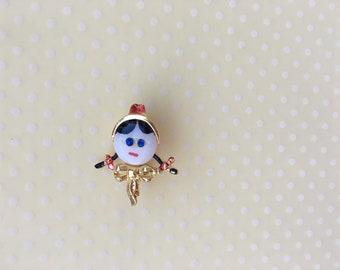 Vintage girl pin