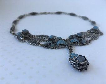 Vintage Turquoise Statement Necklace