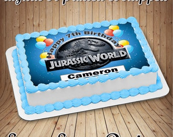 Jurassic World Cake Etsy