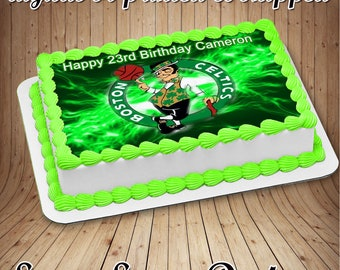 Boston Celtics Edible Cake Image
