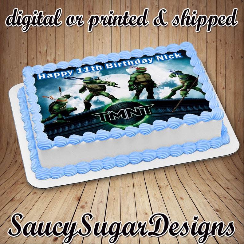 ninja turtle cake, edible images, frosting sheets